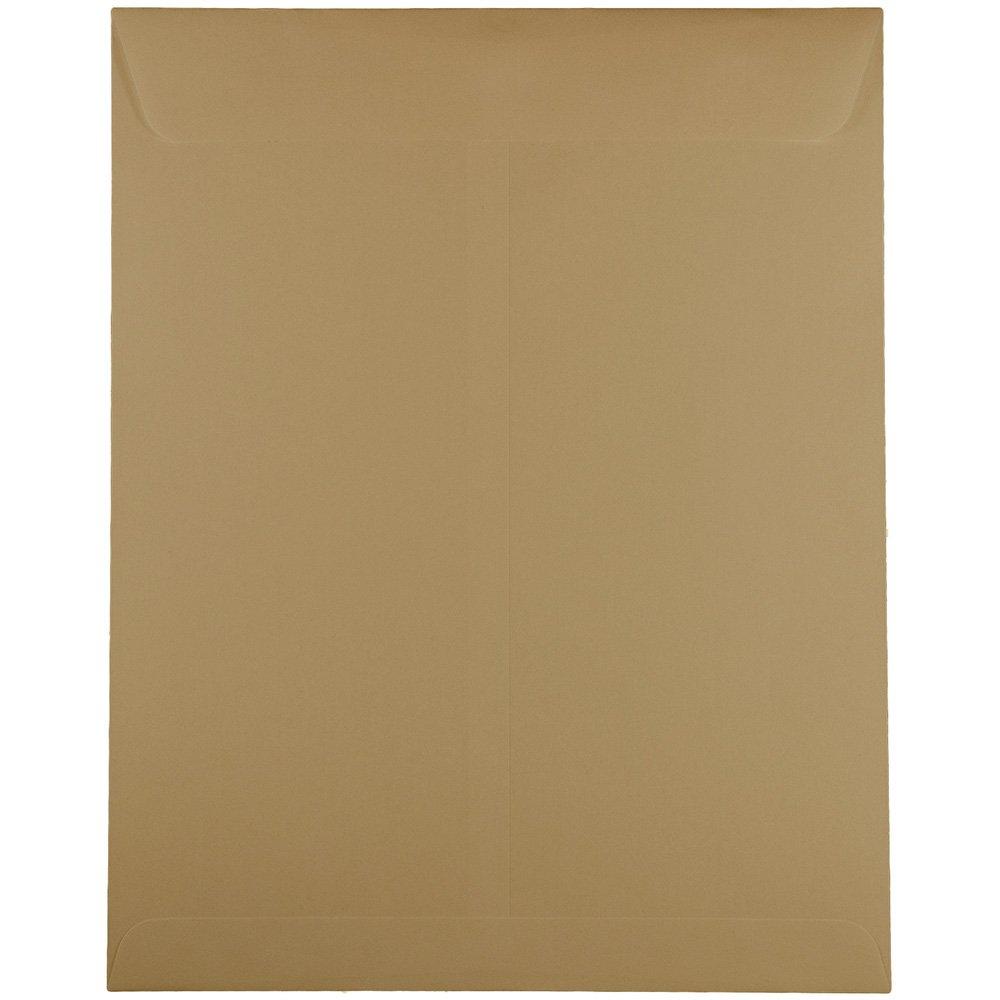 JAM Paper 10'' x 13'' Open End Catalog Envelopes with Gum Closure - Tan - 25/pack