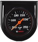 "Bosch SP0F000053 Style Line 2"" Mechanical Water/Oil Temperature Gauge (Black Dial Face, Black Bezel)"