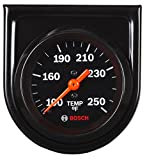 Bosch SP0F000053 Style Line 2'' Mechanical Water/Oil Temperature Gauge (Black Dial Face, Black Bezel)