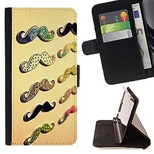 For LG G3 Case , Bigote del manillar Beige- la tarjeta de Crédito Slots PU Funda de cuero Monedero caso cubierta de piel