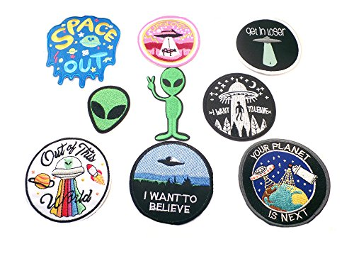 Sci-Fi 9PK Assortment Horror Film Theme DIY Easy Iron/Sew-on Embroidered Patches By Superheroes Brand