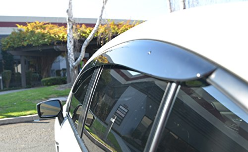 VXMOTOR for 2015-2018 Subaru WRX STI Window Visor Rain Guard Deflector JDM Clip On