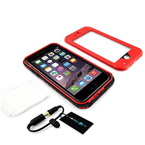 Alienwork Coque pour iPhone 6 adapté à lempreinte digitale Case Etuis Housse étanche Antipoussière Anti-neige Plastique rouge AP609-04