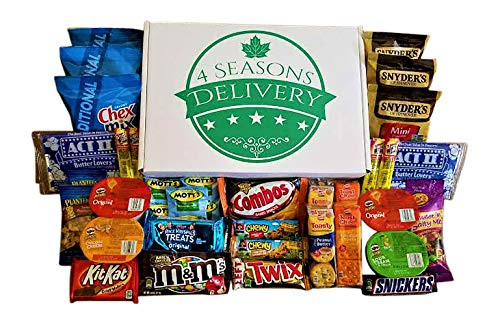 Teenage Guy Halloween Ideas (Sweet and Salty Snack Box, College Care Package, Movie Night Snacks, Military Care Package, Birthday and Holiday Gift, 4 SEASONS DELIVERY, 34)