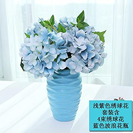 Amazon lvlidan stems bunch artificial flora creative hydrangea lvlidan stems bunch artificial flora creative hydrangea silk flowers suits blue mightylinksfo