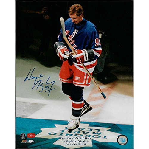 Wayne Gretzky Autographed New York Rangers 11X14 Photo (Last Game at Maple Leaf ()