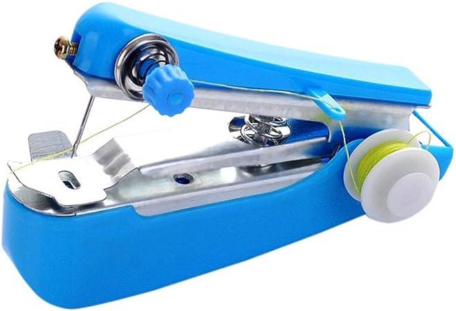 Iswell Mini máquina de Coser portátil, máquina de Coser de Mano Herramienta de hogar de Puntada eléctrica inalámbrica para Tela, Ropa, Tela para niños, Uso de Viajes en el hogar: Amazon.es: Hogar