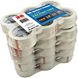 Grizzly Brand Clear Packing Tape Refill Rolls for Shipping, Moving, Packaging - True 2 Inch x 65 Yards, 3 Inch Core, 2.8mil Thick, 36 Rolls Bulk Case