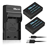 OAproda 2 Pack Replacement LP-E17 Battery and Ultra Slim Micro USB Charger for Canon LPE17, EOS M3, M5, M6, Rebel SL2, T6i, Rebel T6s, Rebel T7i, EOS 77D, 760D, 750D, 800D, KISS X8i Digital SLR Camera