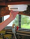 Paper Plate Holder Storage Organizer Rack Dispenser Mount Under Cabinet RV Shelf