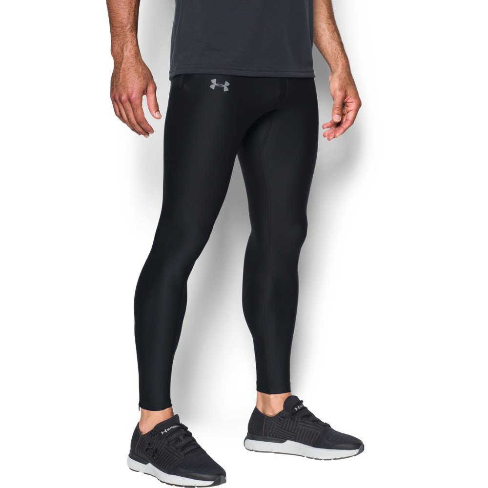 Under Armour Men's Run True Leggings,Black (001)/Reflective, X-Large by Under Armour (Image #1)