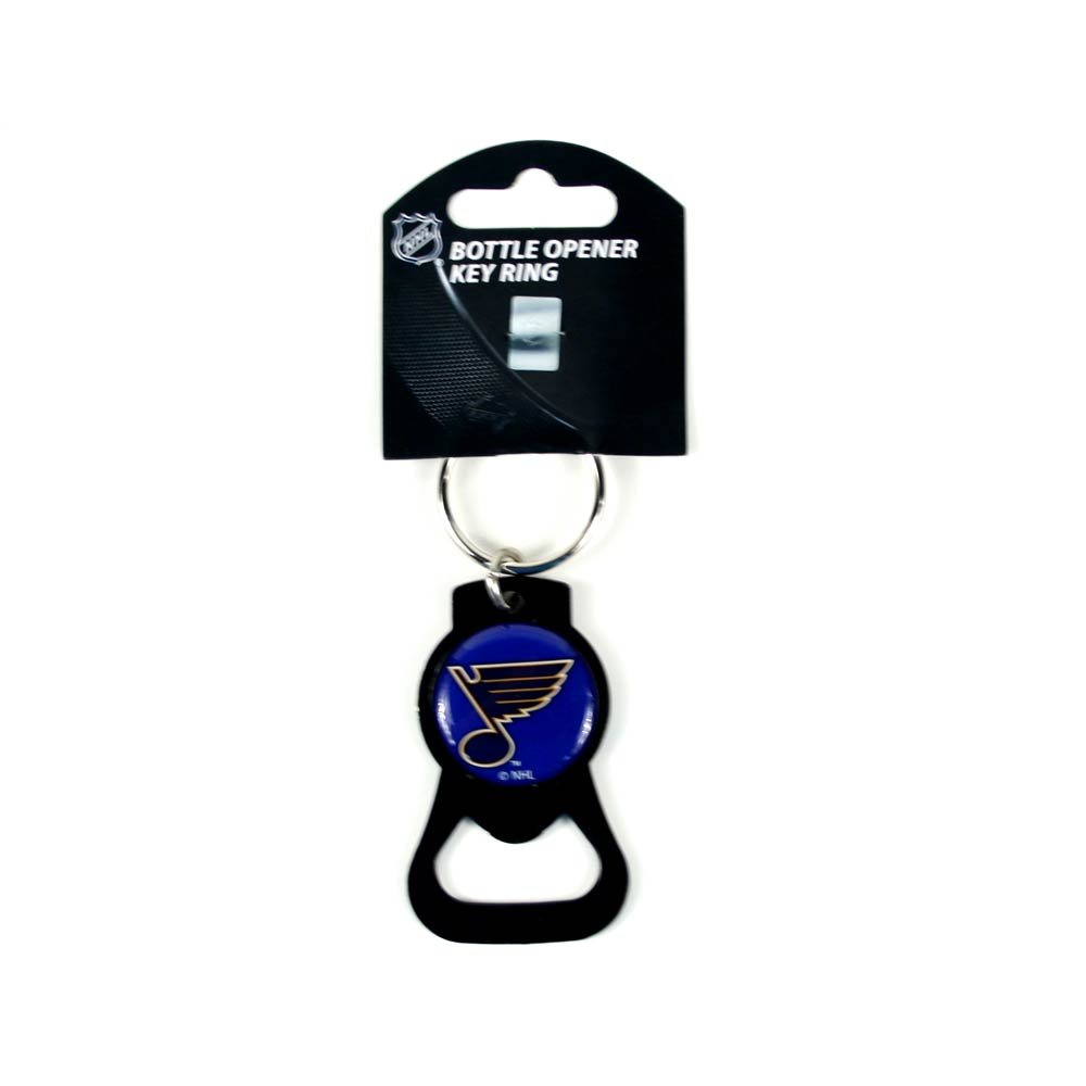 Siski Sport St Louis Blues, Black Keyring & Bottle-opener