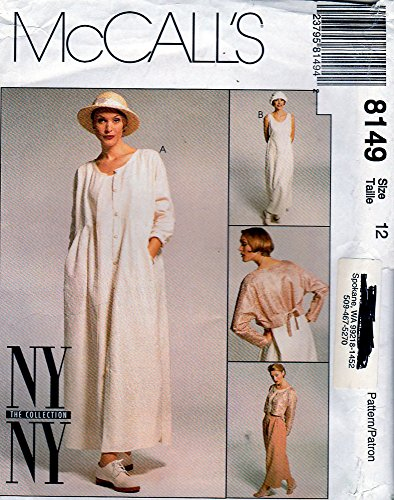 (McCall's 8149 Sewing Pattern, Misses' Dresses, Jacket and Pants, Size 12)