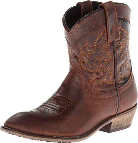 Dingo Women's Willie Cowgirl Boot Round Toe Brown 6.5 M US