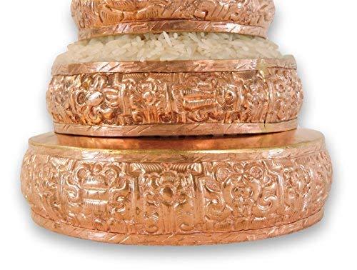 Hands Of Tibet Copper Mandala Offering Set 5 Inch Diameter (5'' Gold) by Hands Of Tibet (Image #4)