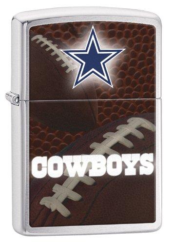 Zippo Pocket Lighter NFL Dallas Cowboys Brushed Chrome Pocket Lighter