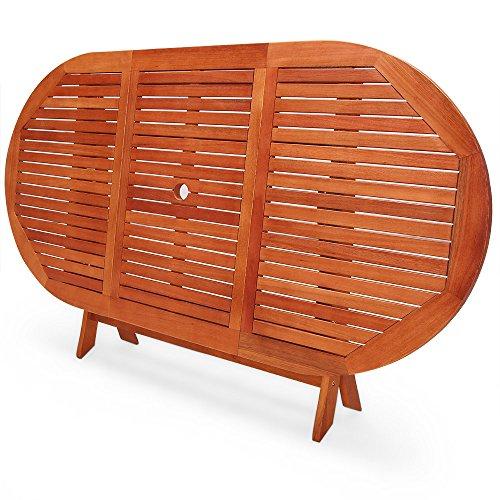 Table jardin bois pliante salon de jardin aluminium blanc | Maison ...