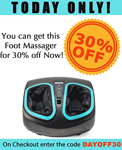 Shiatsu Foot Massager Machine with Heat - Electric Deep Kneading Massage Air Compression - for Circulation, Feet Legs Muscle Relief, Plantar Fasciitis, Neuropathy Chronic Nerve Pain Therapy Spa Gift
