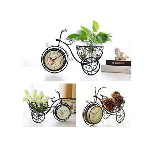 Los Relojes de Bicicleta de Doble Cara del Metal se dirigen el Reloj de Cuarzo silencioso casero 14.5 * 5.9 * 9.8 Pulgadas...