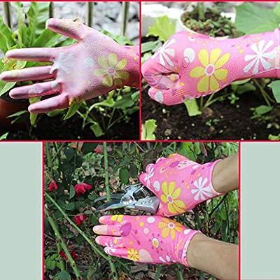 2020 New! Gardening Glove,Leewos Garden Glove Non-Slip Anti-stab Lawn Gloves,Wear Wear-Resistant Patio Gloves,Breathable Waterproof Gloves(Pink,Free): Toys & Games