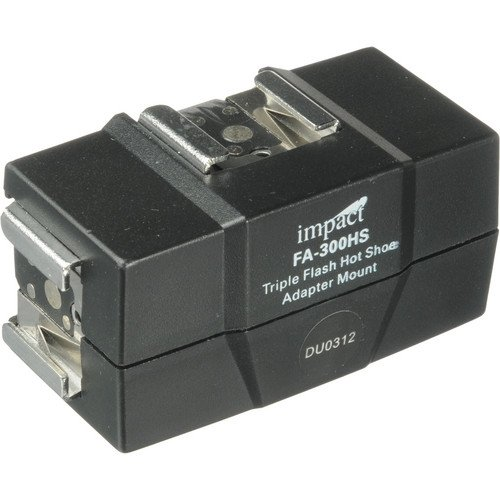 Impact FA-300HS Triple-Flash Hot Shoe Adapter Mount