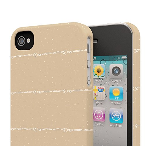 Koveru Back Cover Case for Apple iPhone 4/4S - Brown fencing