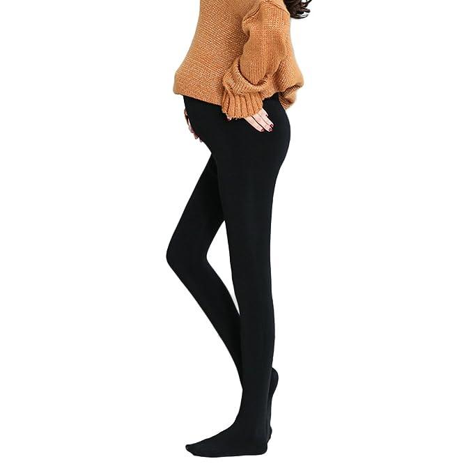 Samber Leggings para Mujer Embarazadas Invierno Pantalones Elásticos Mujer Calcetines Largos de Soporte de Abdomen del