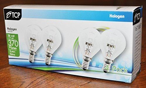 G45/golfballf/örmige Eco-Halogenleuchten 28/W 240/V dimmbare Energiesparleuchten 28/W = 37/W E14,/SES 2 x 4er Pack = 8 Leuchten kleines Edison-Gewinde