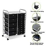Giantex 15 Drawer Rolling Storage Cart Tools