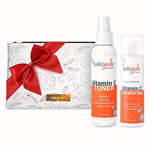 Vitamin C Facial Skin Care Gift Set with Free Makeup Bag