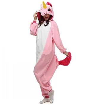 JYSPORT Unicornio Anime Disfraz Cosplay Disfraces Pijamas Kigurumi Trajes Animales Ropa (pink, S)