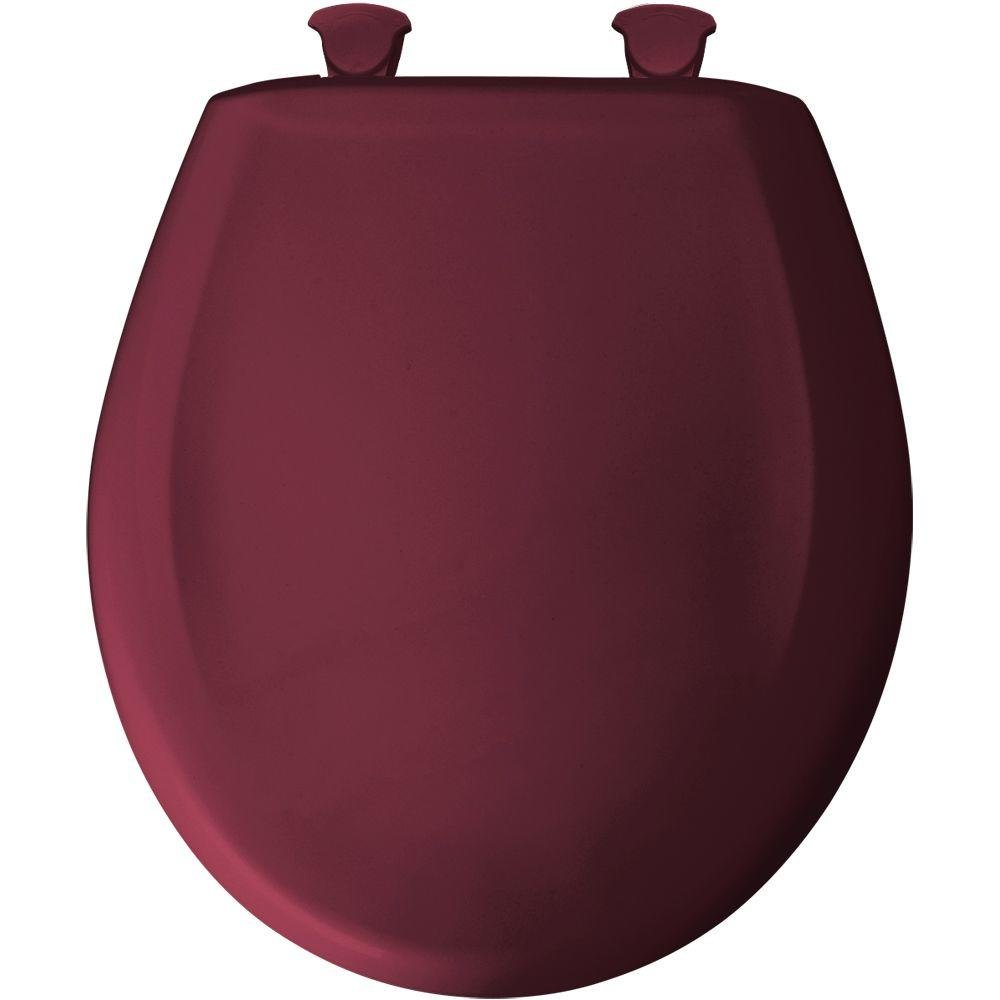 Round Closed Front Plastic Toilet Seat with Cover, Ruby Clauss 7B200SLOWT 313