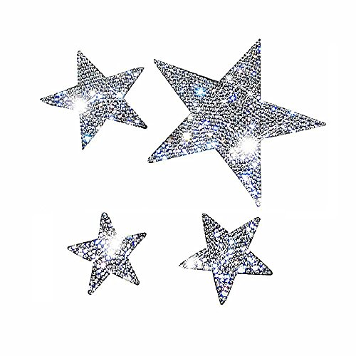 Ling's boutique(TM) Various Patterns of Crystal Car Stickers,Decorate Cars Bumper Window Laptops Luggage Rhinestone Sticker,White (Star)