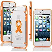Apple iPhone (6 Plus 6s Plus) Transparent Clear Hard TPU Case Cover Color Awareness Ribbon Leukemia Cancer Multiple...
