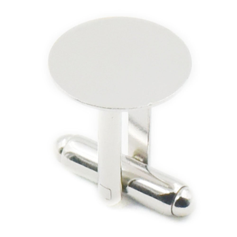 Nickel 15mm 5//8 Cuivre fujiyuan 20/Lot de 10/paires 15/mm 5//20,3/cm or boutons de manchette Vierge cuivre Pad rond Nickel