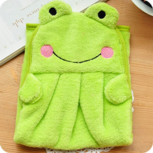 TraveT Children Animal Soft Plush Hand Towel Hanging Cloth Soft (Hanging Dish Warmer)