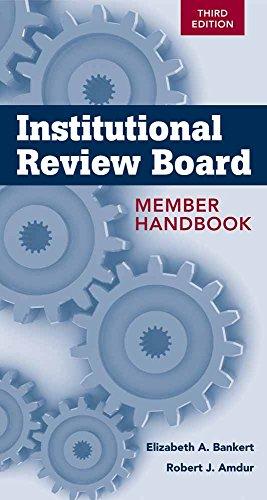 (Institutional Review Board Member Handbook)