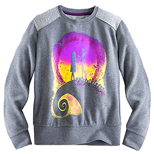 Jack Skellington Disney Womens Sally Lightweight Jersey Pullover (Large)