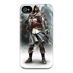 New Assassins Creed Iv Black Flag Game Tpu Case Cover, Anti-scratch MattDFarmer Phone Case For Iphone 4/4s