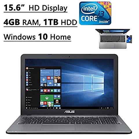 Asus X540LA-SI30205P 15.6-Inch Flagship Premium Laptop (Intel Core i3-5020U 2.2GHz Processor, 4GB DDR3, 1TB HDD, Windows 10) - Expandable Dj System