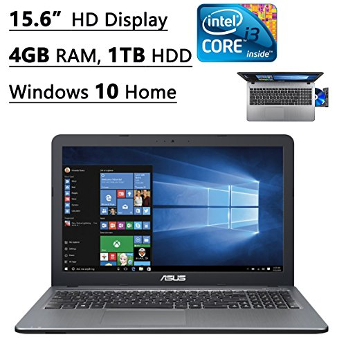 Asus X540LA-SI30205P 15.6-Inch Flagship Premium Laptop (Intel Core i3-5020U 2.2GHz Processor, 4GB DDR3, 1TB HDD, Windows 10) Silver