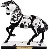 "Enesco Trail of Painted Ponies ""Panda Paws"" Stone Resin Horse Figurine, 7.09"""