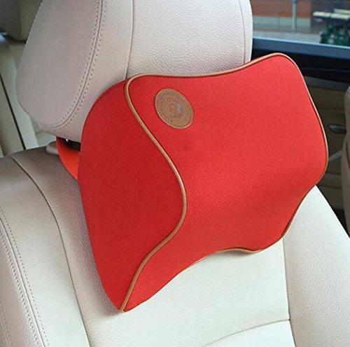 Lanlan High Density Space Cotton Memory Car seat Support Cushion Pillow Car Headrest - Red by Lanlan