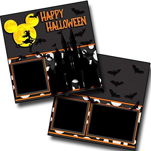 Happy Halloween - Castle - Premade Scrapbook Pages - EZ Layout 3918