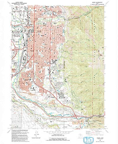 Raymond Square Print (YellowMaps Ogden UT topo map, 1:24000 Scale, 7.5 X 7.5 Minute, Historical, 1992, Updated 1992, 26.7 x 21.9 in - Paper)