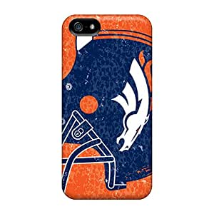 Shock Absorption Hard Phone Covers For Iphone 5/5s (sMK2697gnwv) Allow Personal Design HD Denver Broncos Skin