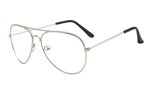 Hombre y Mujer Aviador de Metal Clásico Marco del Espejo Lente Gafas de Sol Con las Bisagras del Resorte