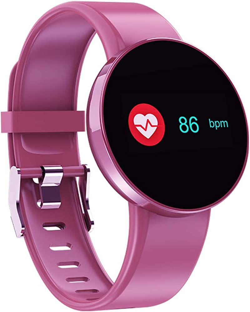 Fitness Tracker Color Screen Glass Heart Rate Blood Oxygen IP68 Waterproof Sports Watch Bluetooth Pedometer with Sleep Monitor Compatible with Android iPhone for Men Women Kids