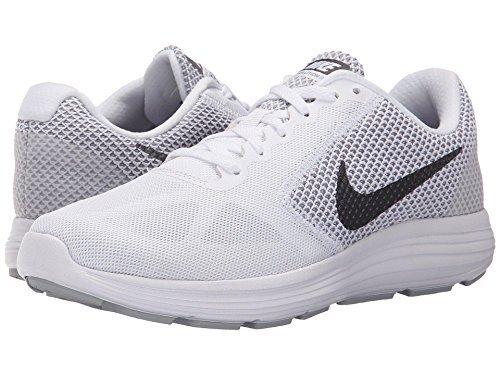 Nike Revolution 3 - Zapatillas de Entrenamiento, Mujer WHITE/WOLF GREY//MTLC DARK GREY