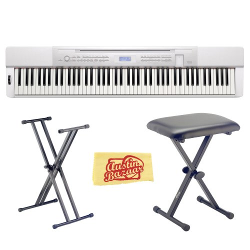 Used, Casio Privia PX-350 88-Key Digital Piano Bundle with for sale  Delivered anywhere in USA